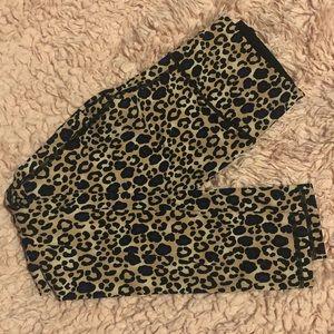 Worn Once! Victoria Sport Knockout Tights Leopard